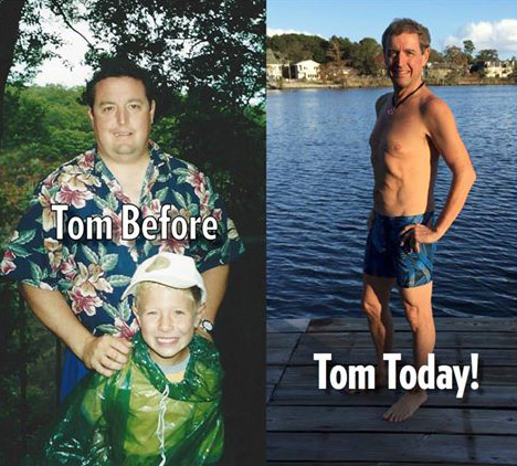 Tom Palmer Before and After Weight Loss Hot Yoga