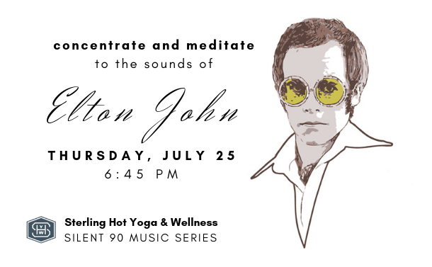 Silent 90 Music Series Elton John Rocketman Sterling Hot Yoga Mobile AL